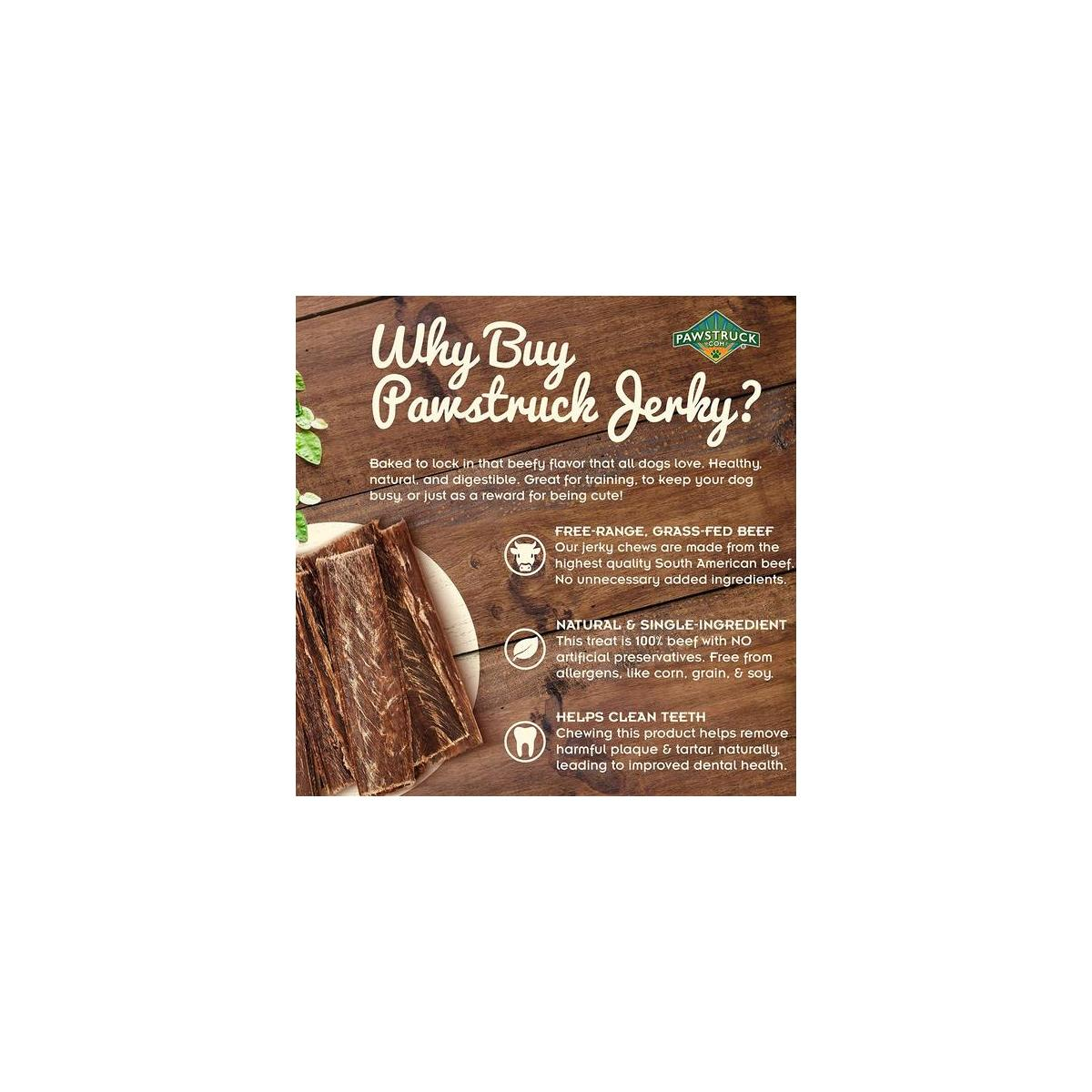 Dog Jerky Treats (25 Pack) Joint Health Beef Chews - Bulk, Gourmet, Fresh & Savory Gullet Straps - Naturally Rich in Glucosamine & Chondroitin - Promotes Healthy Joints by USA Company