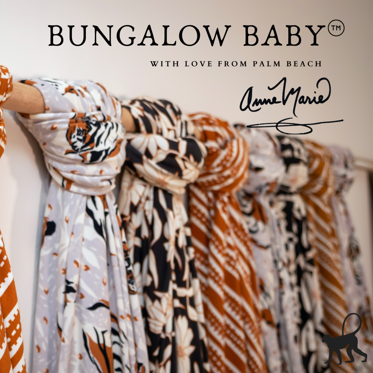 Bungalow Baby Swaddle Set - Premium Bamboo Viscose Baby Swaddle Blanket & Hat Set, Baby Boy, Baby Girl, Unisex, Newborn Swaddle, Baby Wrap, Bamboo Blanket, (Wild Flower)
