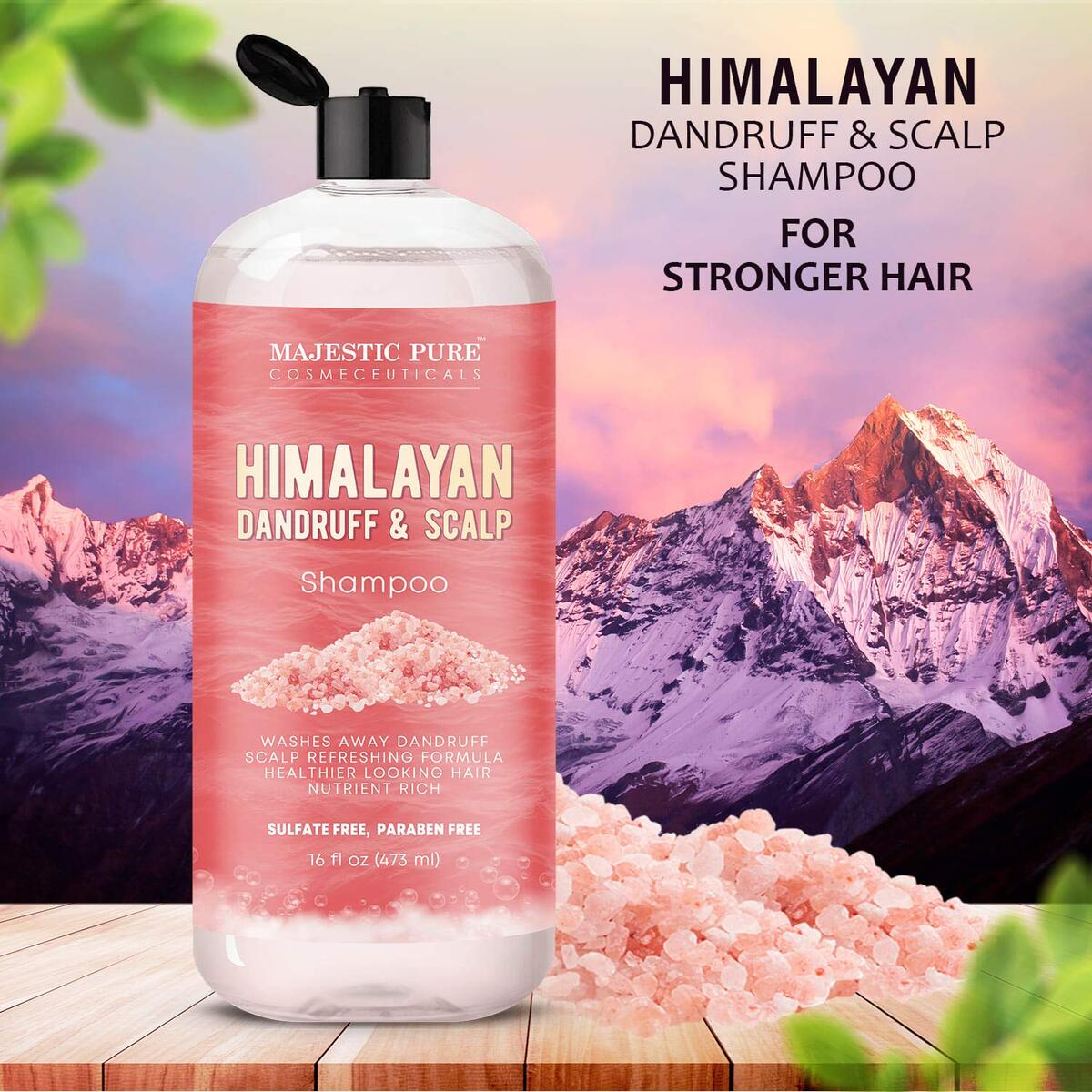 Himalayan Sulfate Free Dandruff and Itchy Dry Scalp Shampoo, 16 fl. oz. -  Washes Away Dandruff - Dry Itchy Scalp Refreshing Formula, for Men and Women