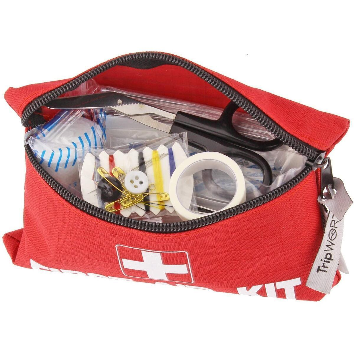 Travel Size First Aid Kit: 100 Piece Small First Aid Travel Bag Compact Lightweight & Portable Mini 1st Aid Box | Car Camping Backpacking Hiking School Office & Survival First Aid Supplies