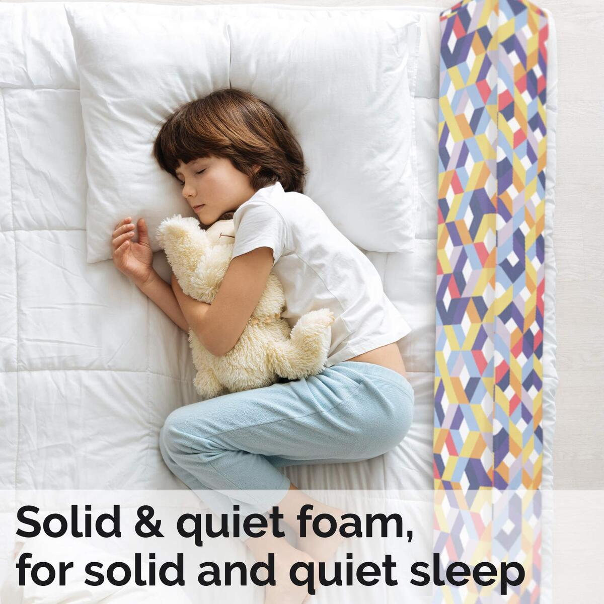 Bed Rail for Toddlers - Toddler Bed Rail Keep Them Safe at Night from Falling Out of Bed-1 Pack