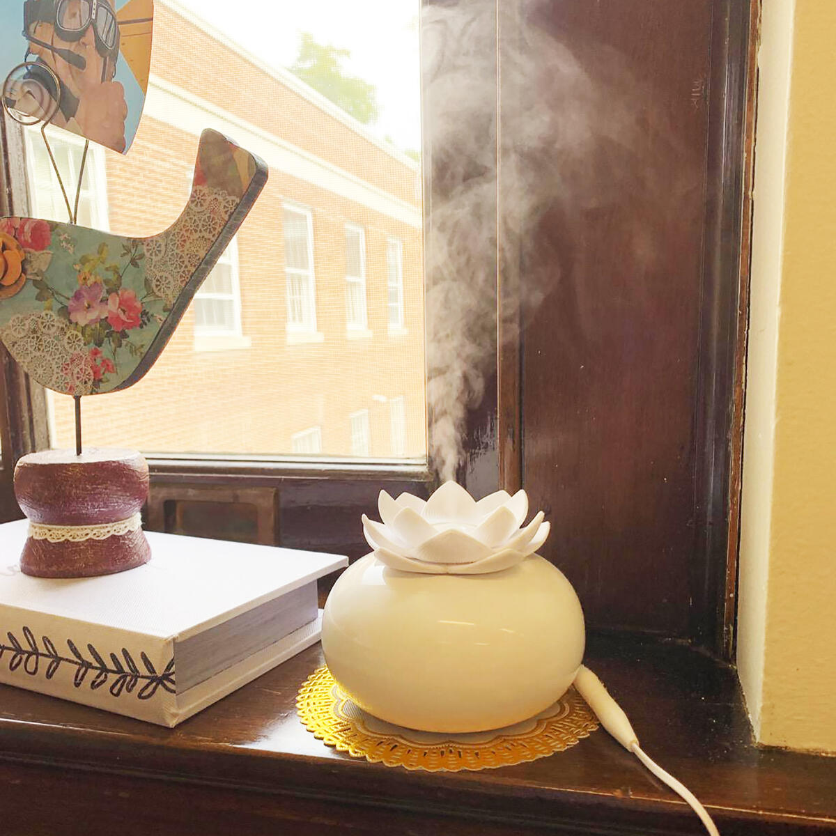 Ceramic Essential Oil Diffuser,Personal Humidifiers Small for Office Desk