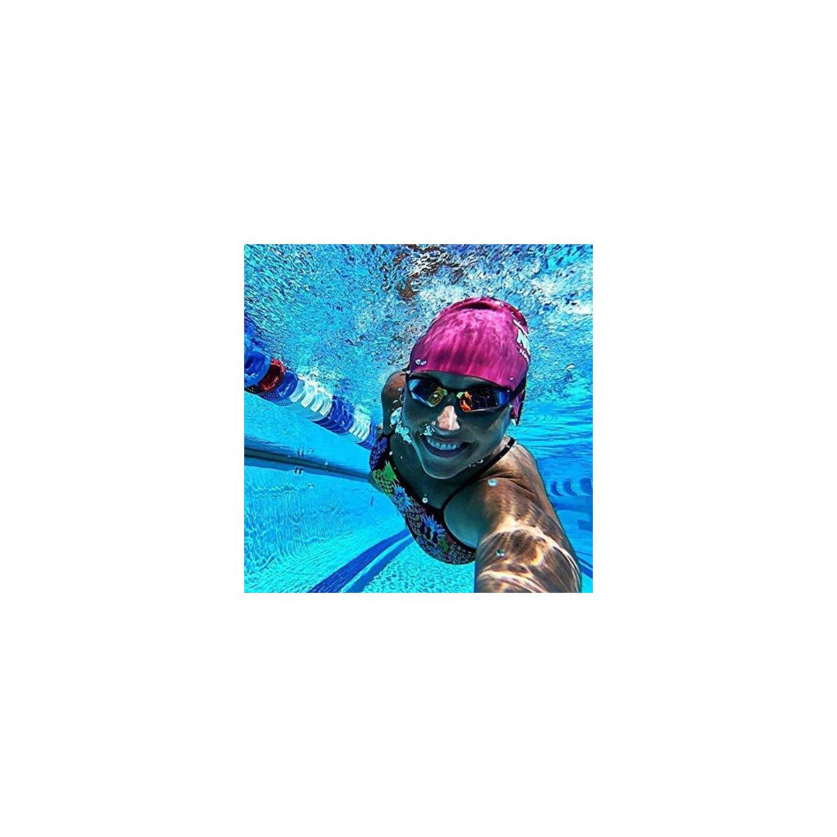 THEMAGIC5 | Custom Fit Swim Goggles | Specifically Designed for Your Face to Prevent Leaking Fogging & Discomfort | Elite Competition Goggles for Racing Triathlons & Everyday Exercise |  Blue Magic Mirror Gold