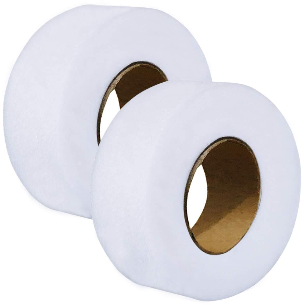 2pcs Hem Tape Iron-On Adhesive Fabric Fusing Tape Each 27 Yards Length, 1 inch/2.5cm Width