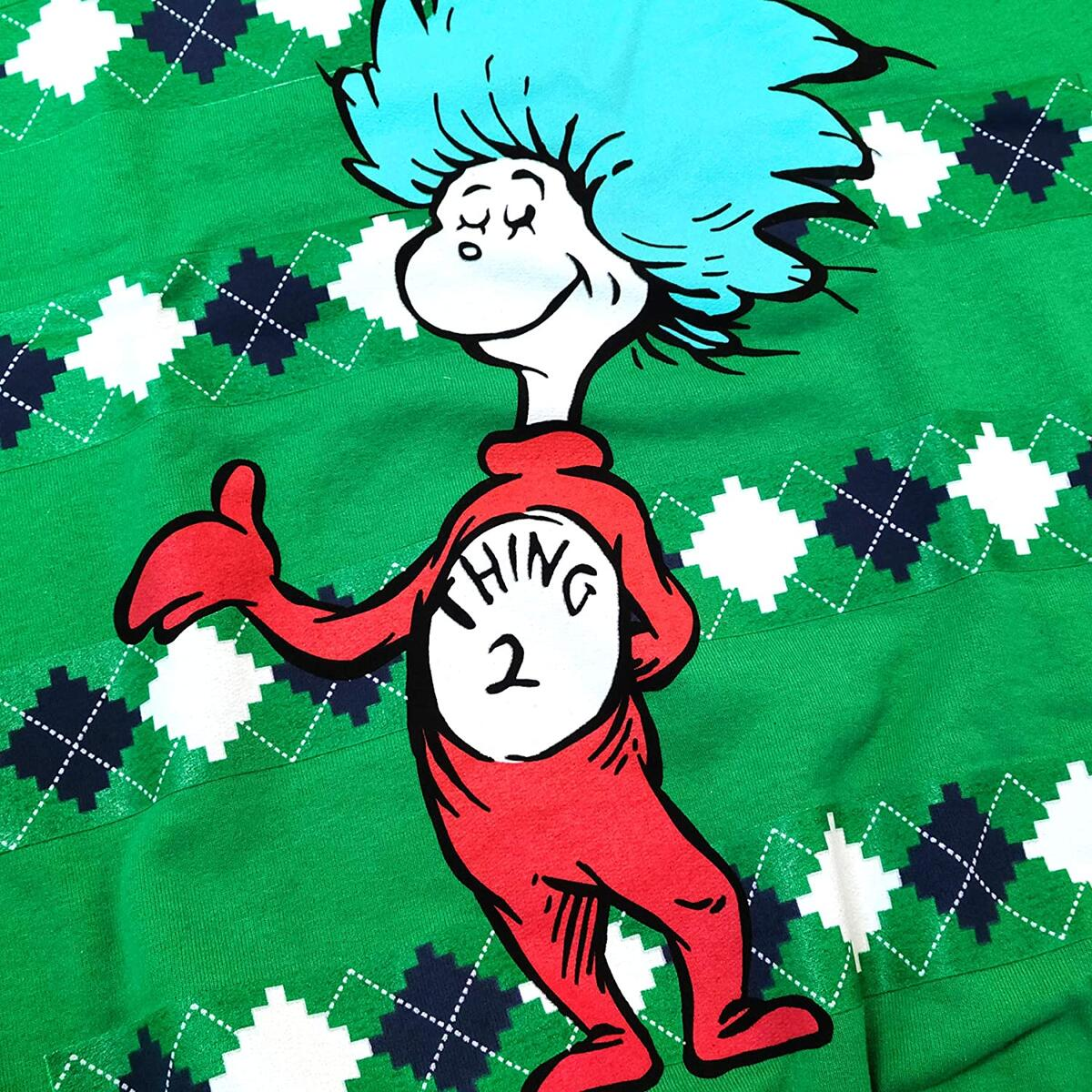 Dr. Seuss Thing 1 or Thing 2 Green Ugly Sweater - Any Color or Size