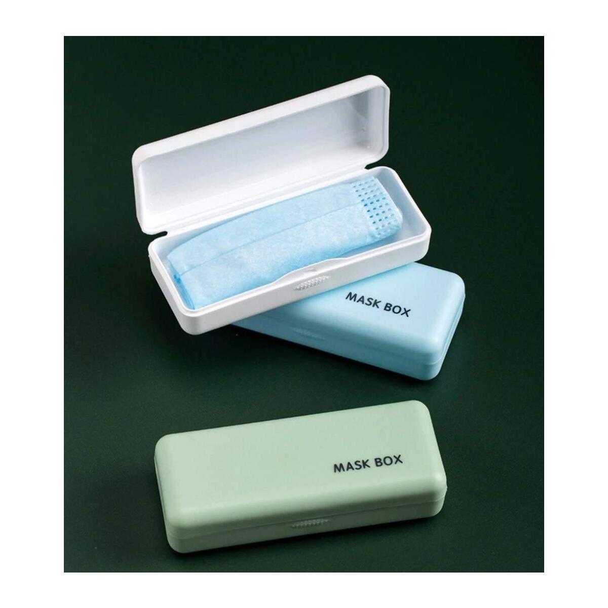 3 Pack Mask Storage Case - BPA-Free Face Mask Case, Dustproof & Moisture-Proof, Portable Mask Case…