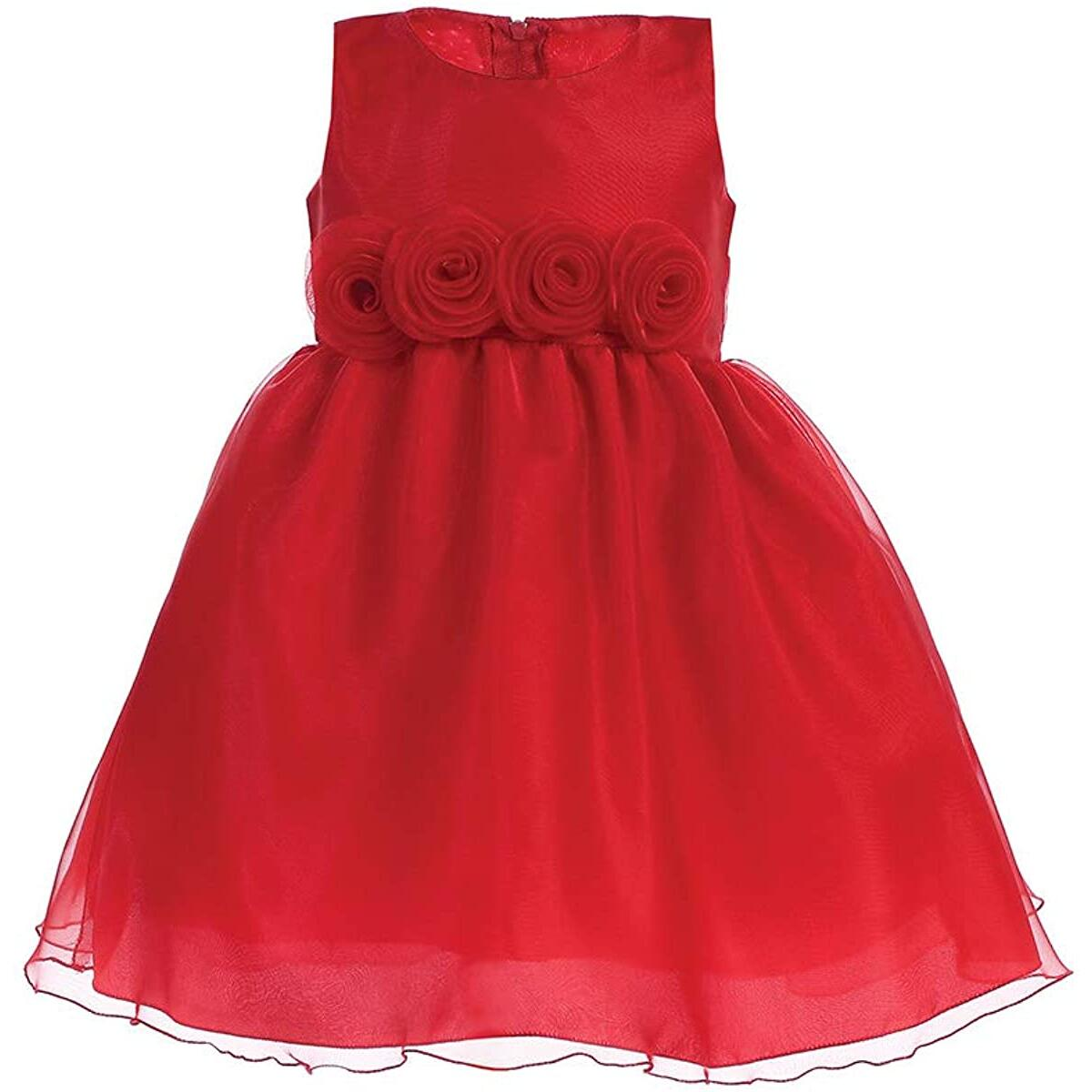 Pink Princess Christmas Dresses for Girls - Gold, Silver, Purple, Red Baby Toddler Outfits - Made in USA