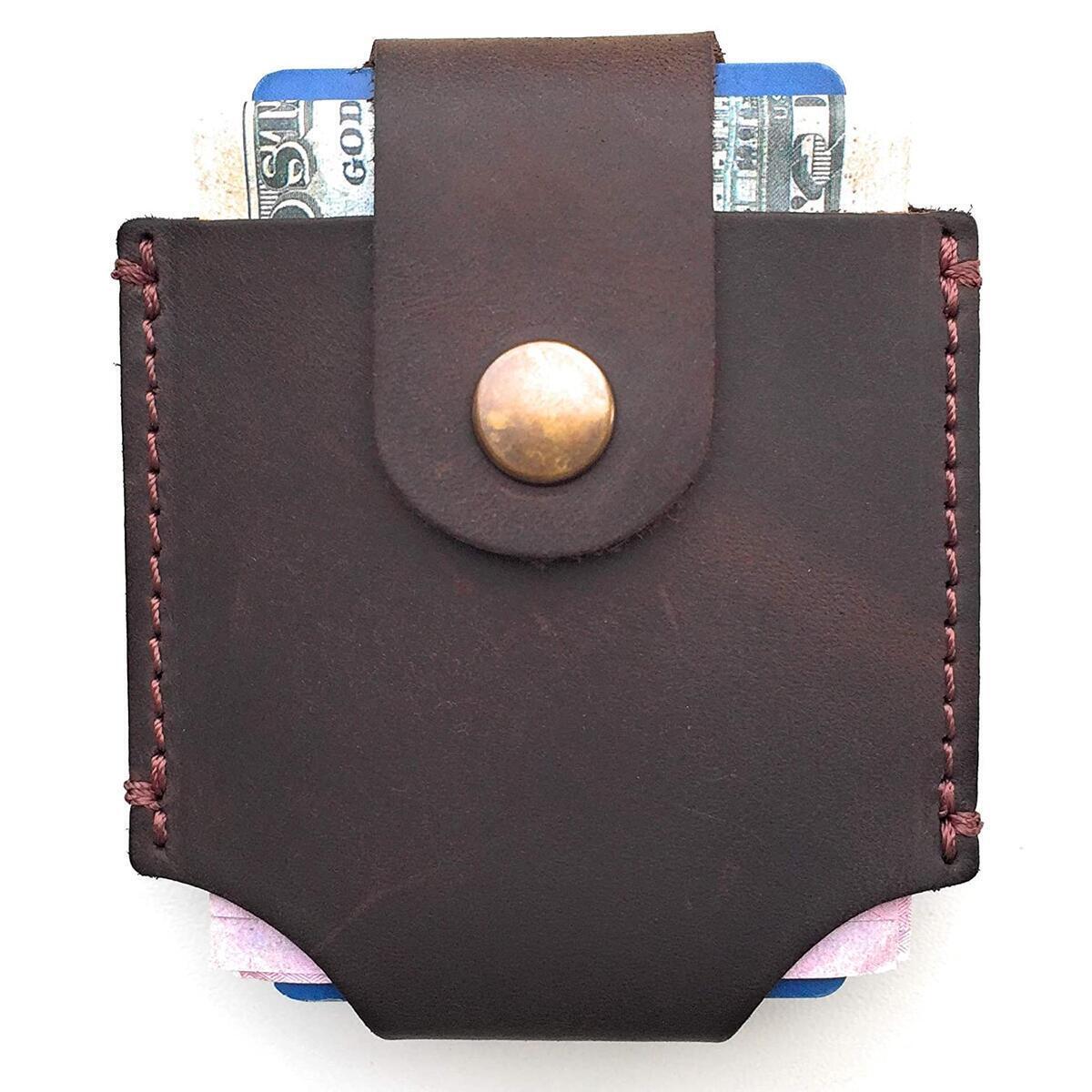 Mens Leather Wallet Unique Minimalist Style