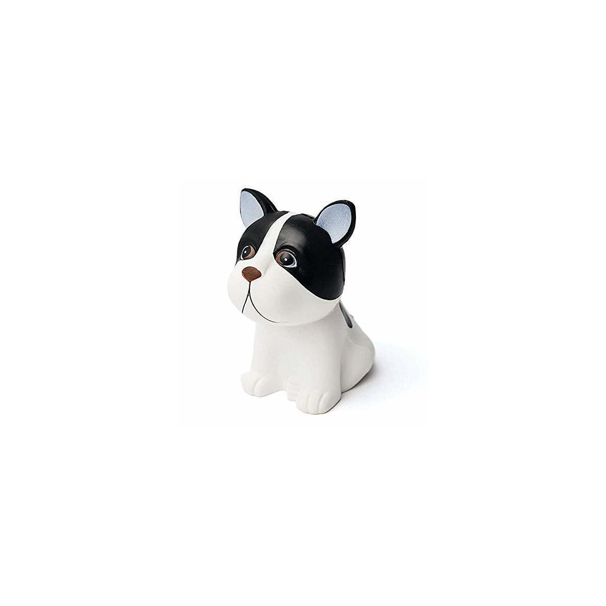 Banyan Pacific Dog Squishy Toy Made Of Slow Rising, Soft Squishie Material, Ideal As Stress Relief Toys Or Favor Bag Fillers (Black And White Squishy Dog Design)