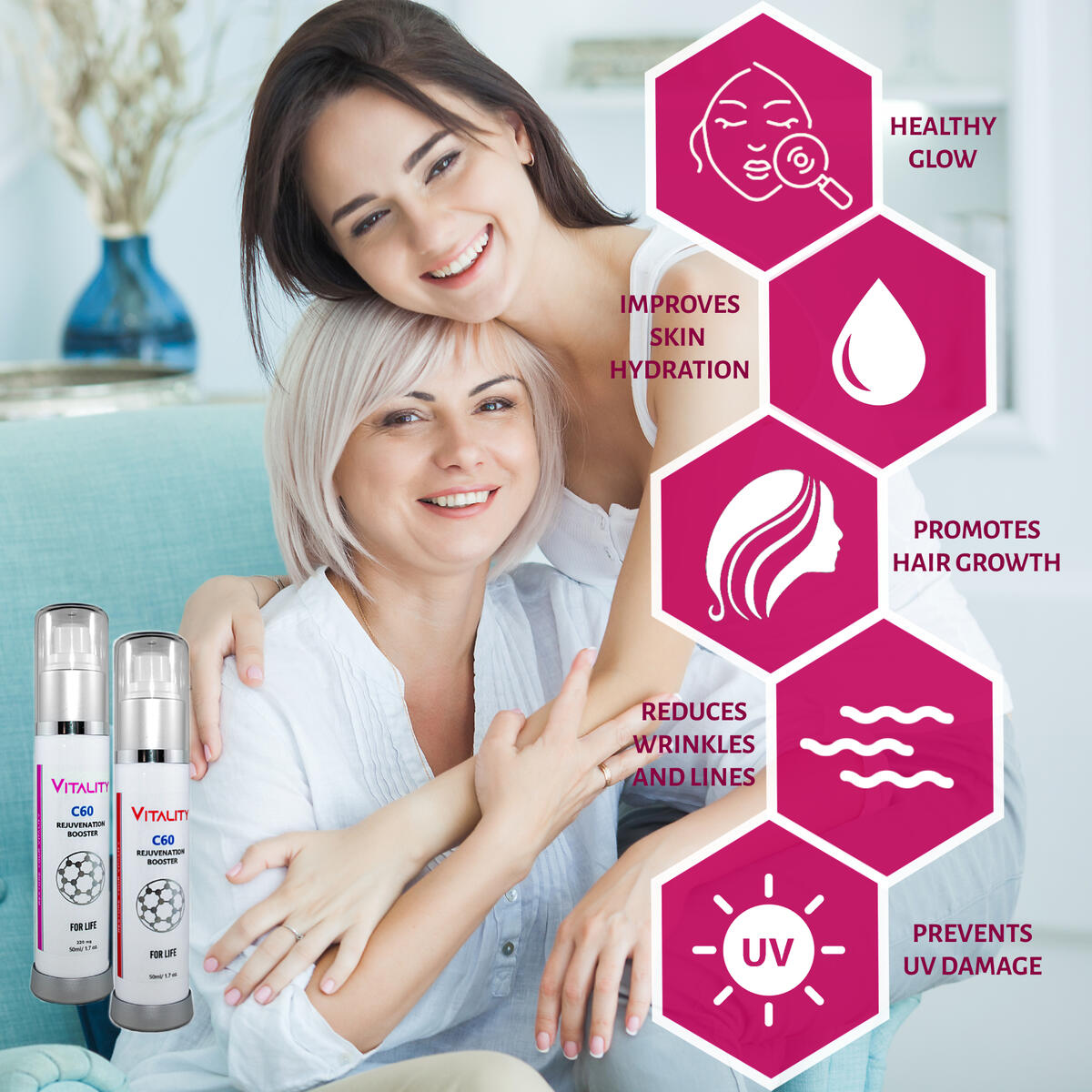 Vitality Co. Higher Potency 440mg   100% Organic C60 in Olive Oil   C-60 Fullerene Supplement  No-Mess Travel-Friendly Spray Bottle