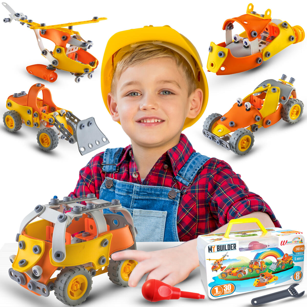 STEM Toy Building Set learning toy for Boys & girls 6-12 Erector set stem activities for kids ages 5-7 Construction Engineering