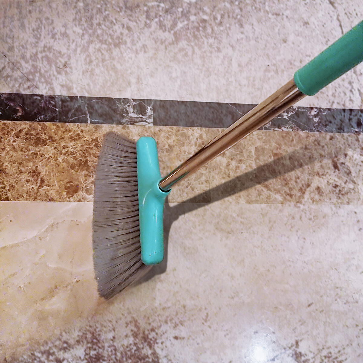 Broom and Dustpan Set Lightweight Upright Lobby Broom and Dust Pan Combo with Long Handle Outdoor Indoor for Home Kitchen Room Office