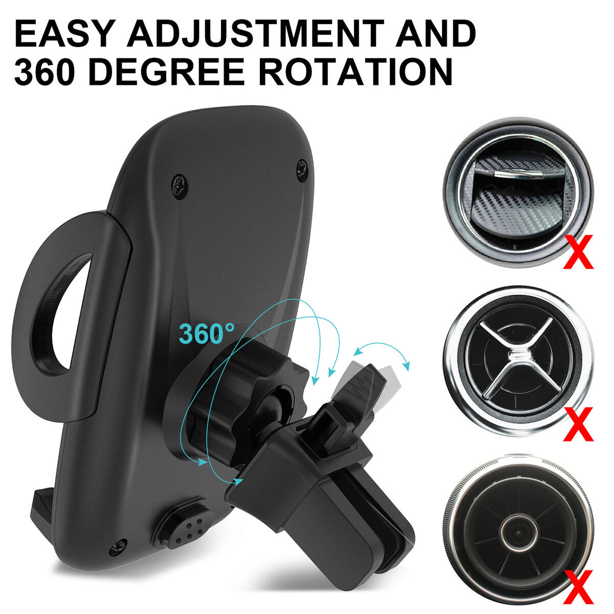 phone car holder 3-in-1 Universal Adjustable Cell Phone Holder Holder Car Cup Holder Phone Mount