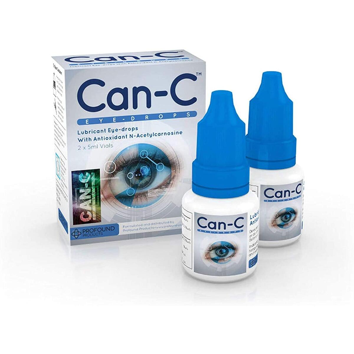 Can-C Lubricant Eye Drops with Antioxidant N-Acetylcarnosine | Effective Solution for Cataracts and Dry Eyes | Natural Eyedrop Ointment Also Includes a Microfiber Multipurpose Cleaning Cloth