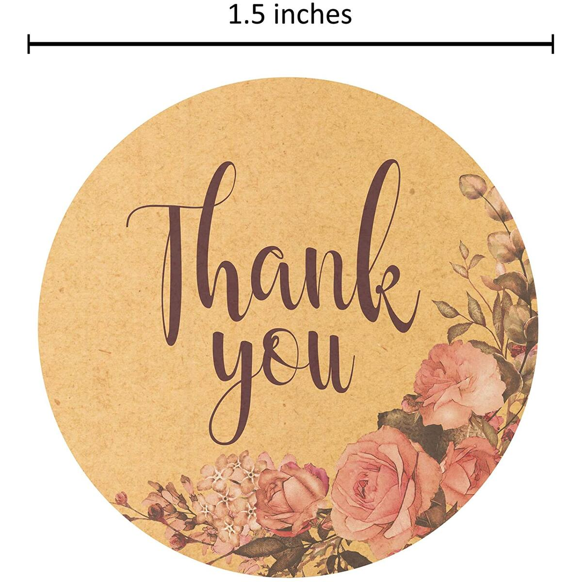 SylkyClover Thank You Stickers Roll - 1.5