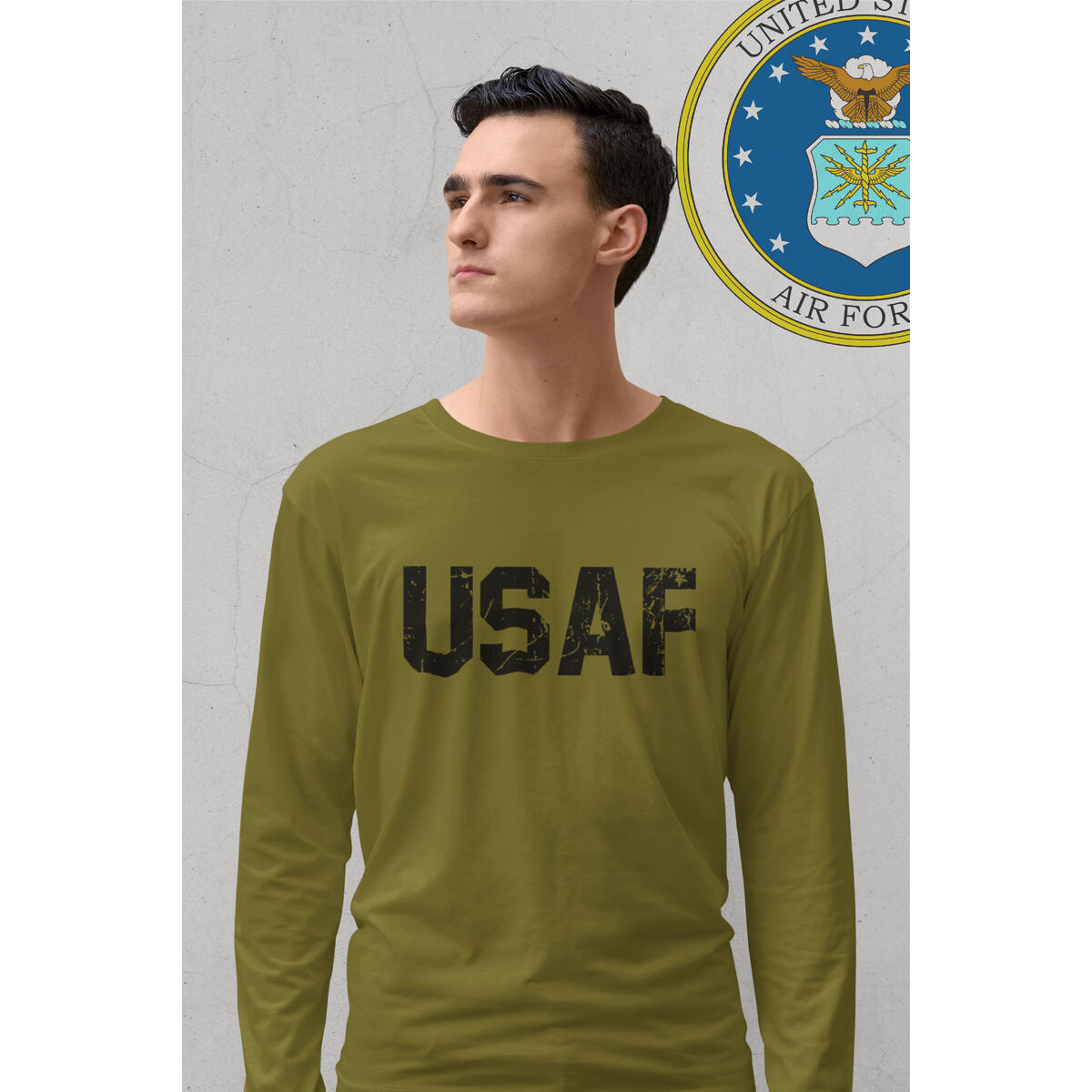 US Air Force Long Sleeve Shirt Gift USAF Tshirt United State Military T Shirts