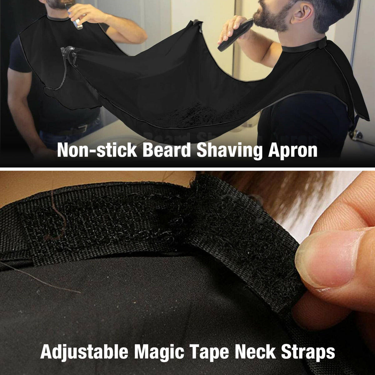Men Facial Hair Trimmings Catcher Beard Whiskers Bib Shaving Apron Cape Cloth