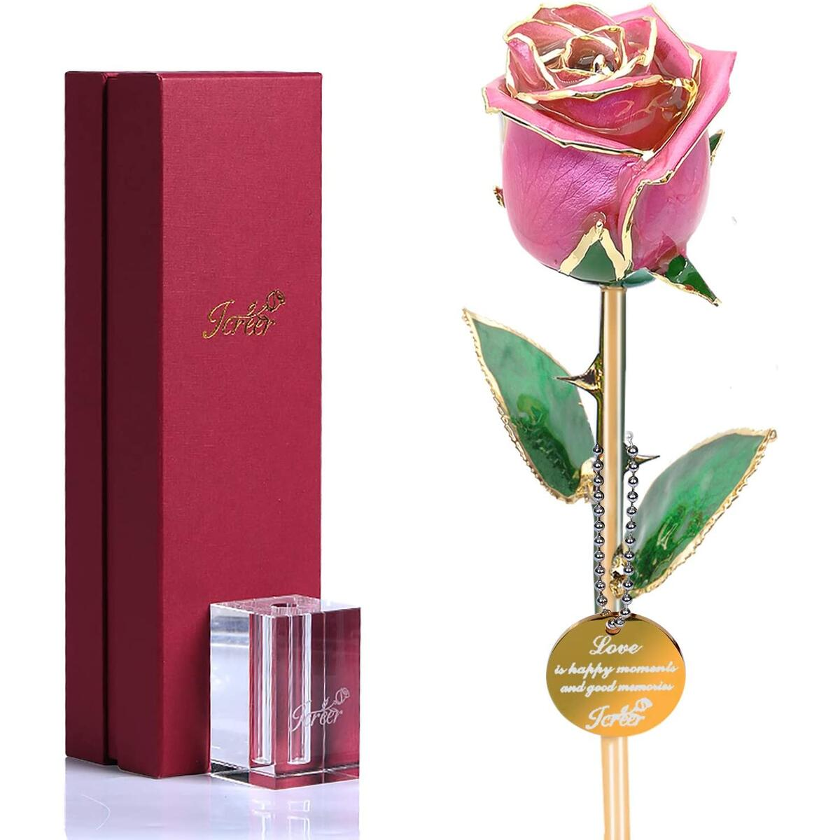 24K Gold Rose Crystal Rose Last Forever,Birthday Mother's Day Valentine's Day Christmas Anniversary Gifts for Her
