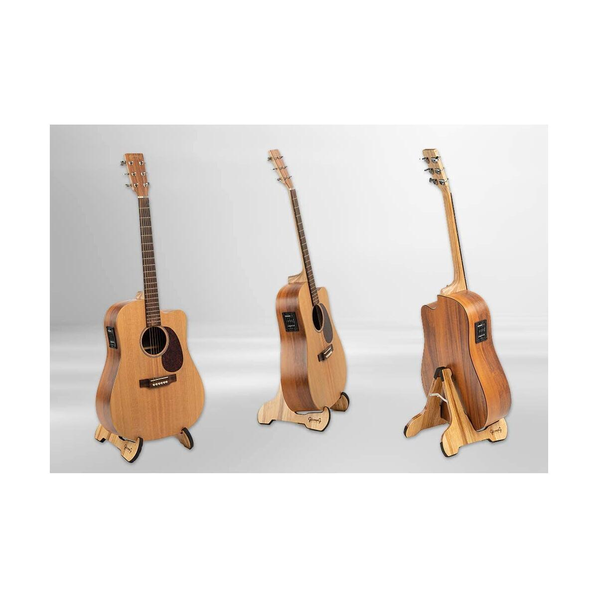 Folding Guitar Stand, Universal for Acoustic Classical Electric Bass Guitars, Strong A-Frame Timber Design