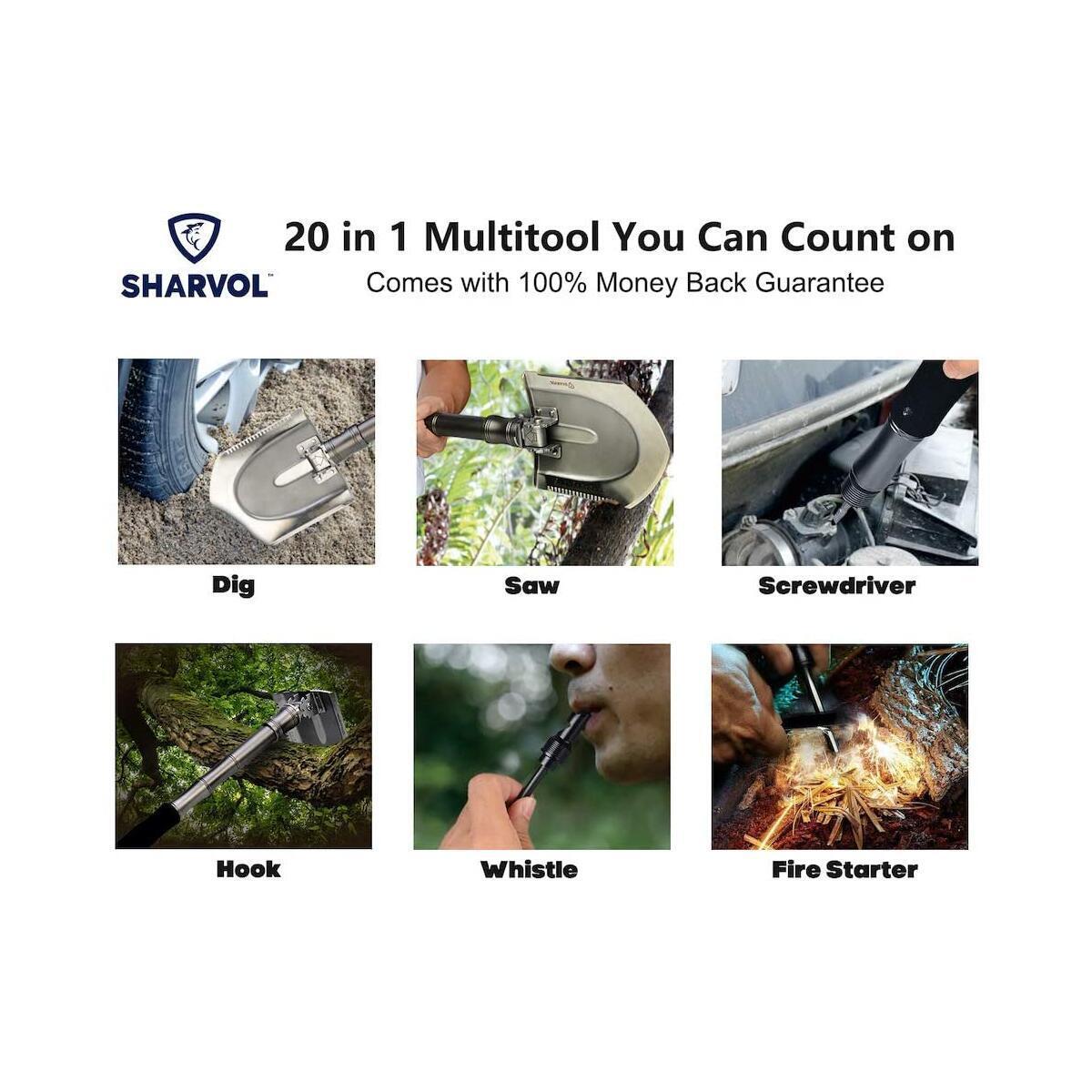 Sharvol Multitool Shovel - with Instant Switch Mechanism