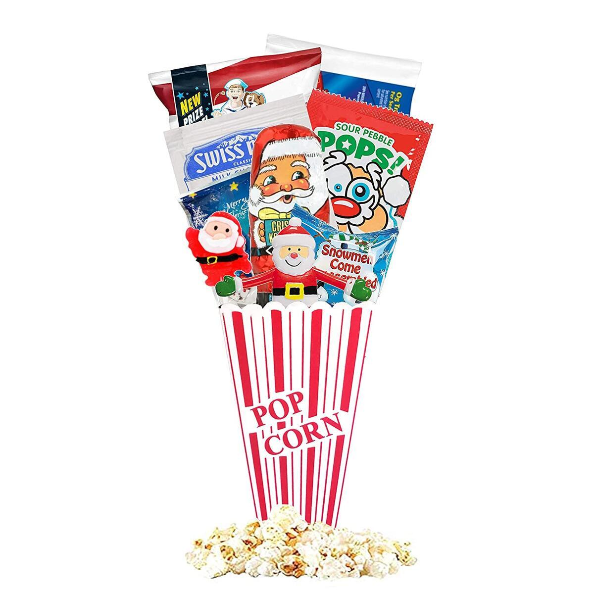 Christmas Redbox Movie Night Gift Baskets (Jolly Santa)