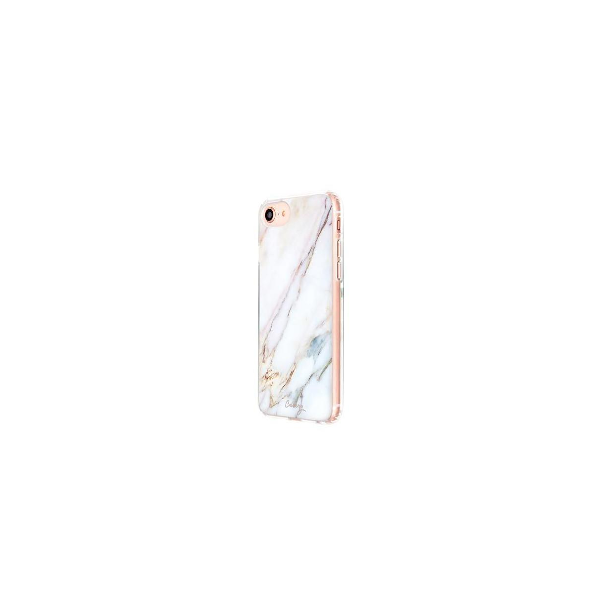 Casery Case Designed for The Apple iPhone iPhone 8/7/6/6s, Luxe (White Marble) - Slim Clear Case - Drop-Tested
