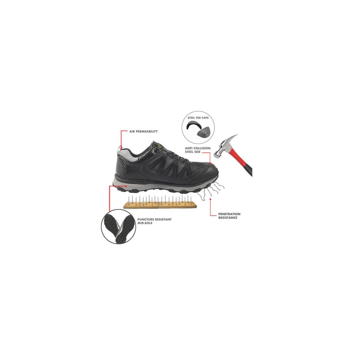 Safety Toe Athletic Shoes - Trainer Style, Steel Toe Sneakers (Only $64.9 available for rebate)